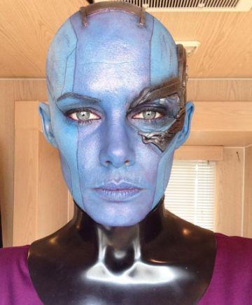 Olivia as a stunt double for Guardians of the Galaxy. Photo: Facebook