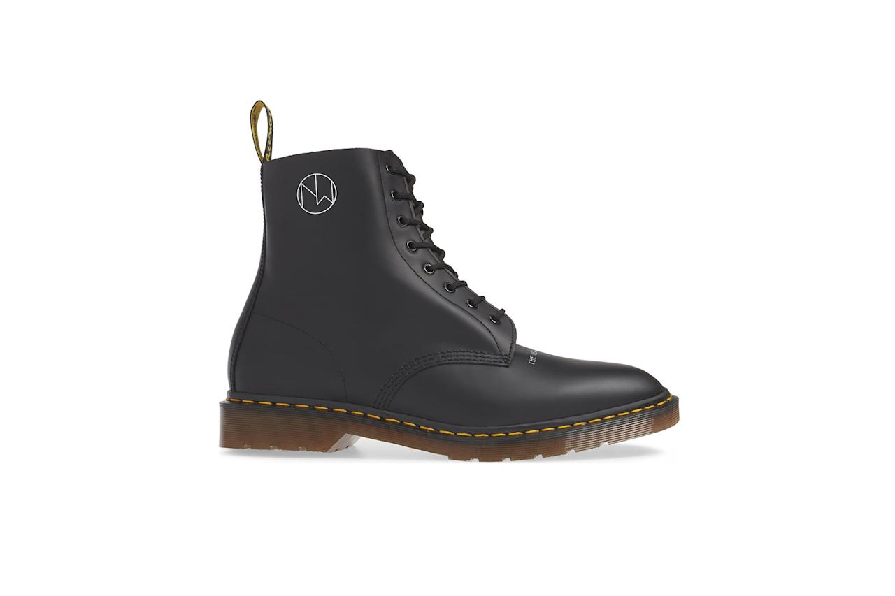 """$250, Nordstrom. <a href=""""https://shop.nordstrom.com/s/dr-martens-x-undercover-1460-boot-men/5165253?origin=category-personalizedsort&breadcrumb=Home%2FSale%2FMen%2FShoes%2FBoots&color=cherry%20leather"""">Get it now!</a>"""