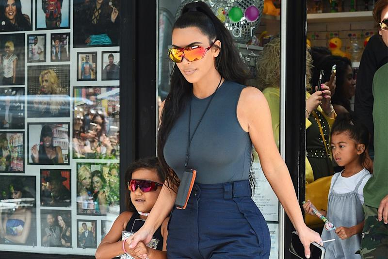 30b9d906b701f Kim Kardashian Shares How She s Been Creating Vintage Yeezy Shoe  Collections for Each of Her Kids