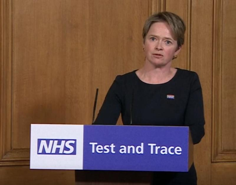 Baroness Dido Harding during a media briefing in Downing Street, London, on coronavirus (Photo: PA)