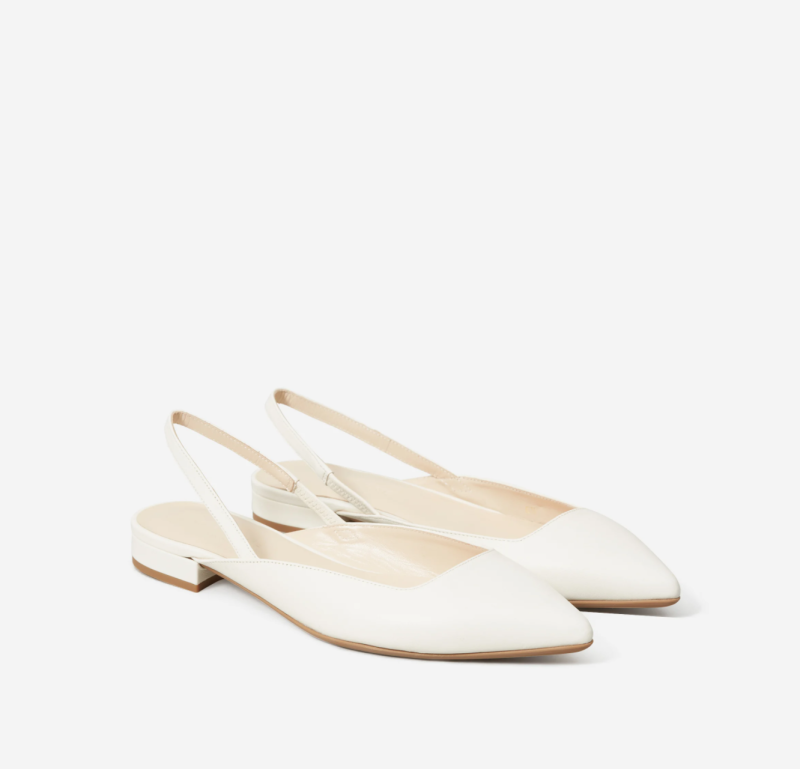 The Editor Slingback in Bone. Image via Everlane.