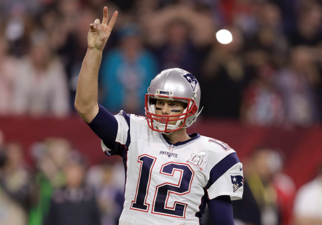 "<a class=""link rapid-noclick-resp"" href=""/nfl/players/5228/"" data-ylk=""slk:Tom Brady"">Tom Brady</a> takes on extra value in a two-quarterback league (AP)"