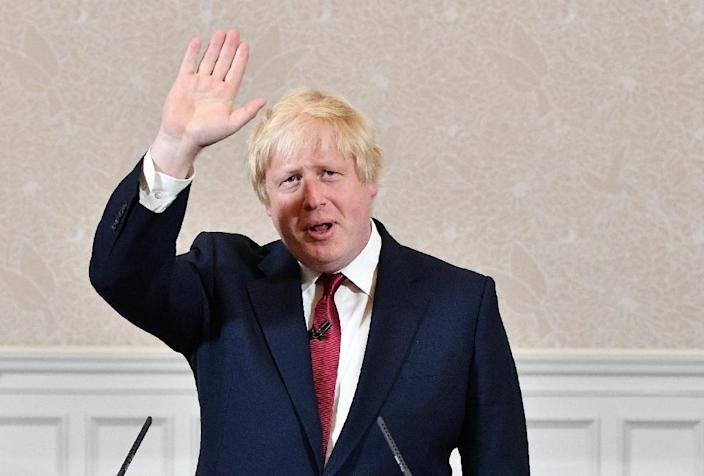 Brexit campaigner and former London mayor Boris Johnson announces that he won't run for prime minister, at a press conference in central London on June 30, 2016 (AFP Photo/Leon Neal)