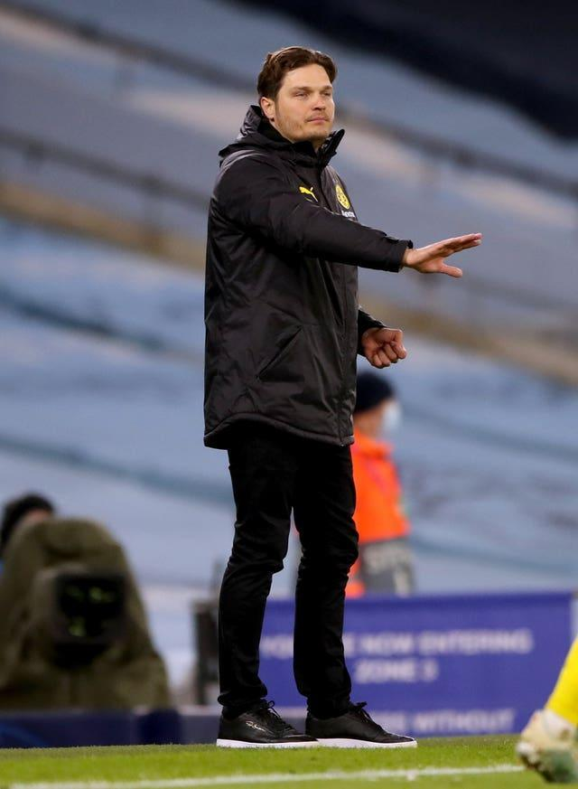 Interim manager Edin Terzic is hoping Dortmund can overturn  a 2-1 deficit