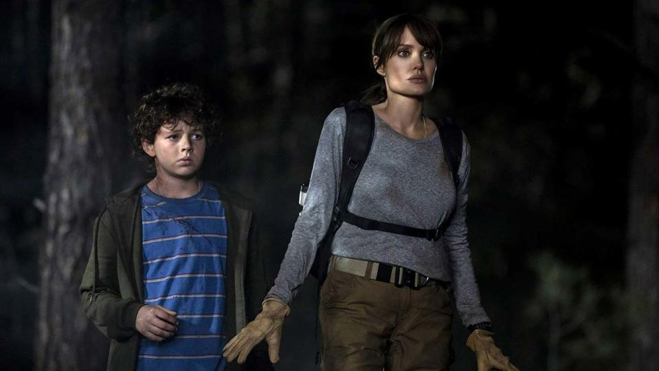 Finn Little and Angelina Jolie in 'Those Who Wish Me Dead' (Warner Bros.)