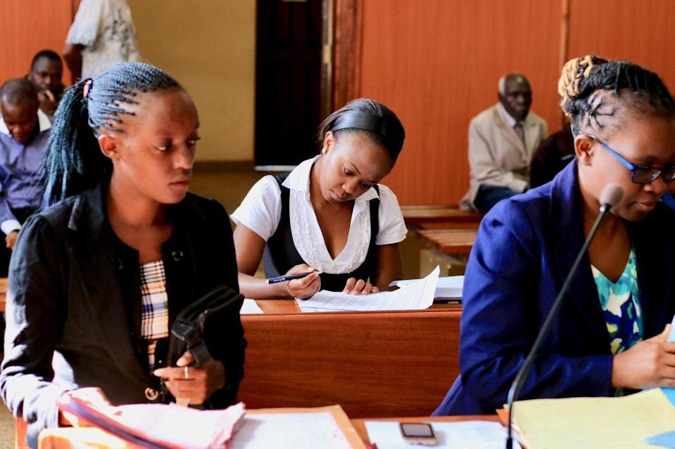 Faith Maino in court in Nyeri, Kenya (Mike Pflanz/Space for Giants)
