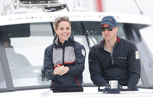 The royal couple cheers on Sir Ben Ainslie's victorious team. Photo: Getty Images