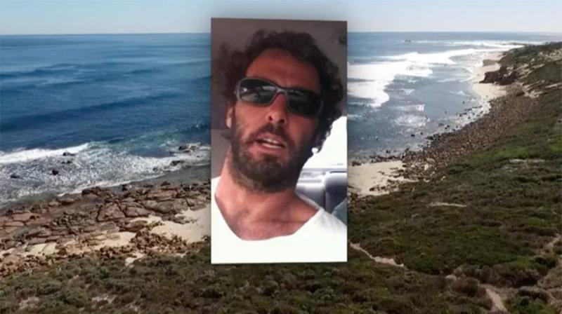 Alejandro Travaglini fought off the shark more than three times after he was attacked in Gracetown on Monday. Source: 7 News