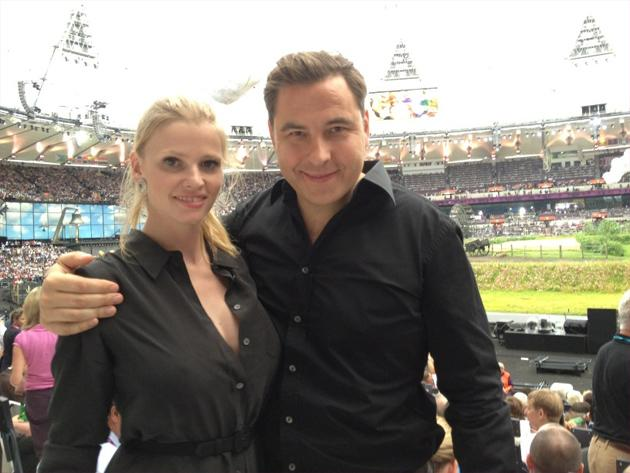 Celebrity photos: This week has been all about the Olympics, and some of the celebs even got the chance to attend the Opening Ceremony. David Walliams tweeted this cute photo of him and his model wife Lara Stone at the event.
