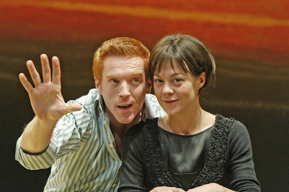 With Damian Lewis in Five Gold Rings at the Almeida Theatre, 2003 - Alastair Muir