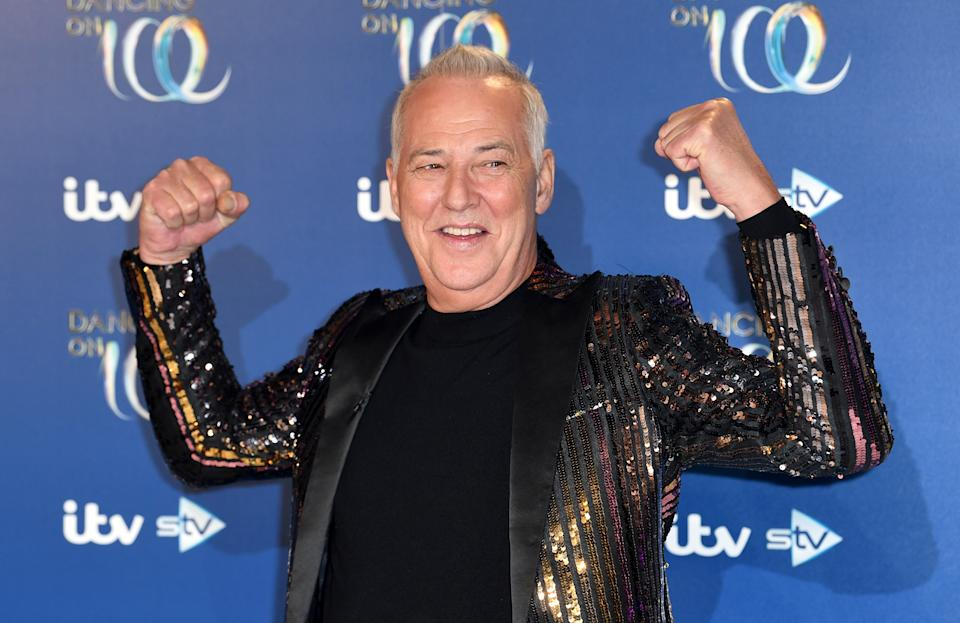 Michael Barrymore attending the Dancing on Ice 2020 launch held at Bovingdon Airfield, Hertfordshire. Photo credit should read: Doug Peters/EMPICS