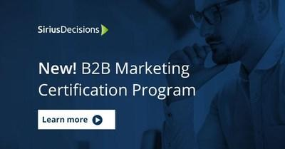 Forrester announces new SiriusDecisions B2B Marketing Certification program