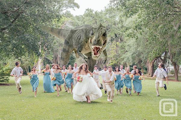 "<div class=""caption-credit""> Photo by: Quinn Miller Photo + Design</div><div class=""caption-title"">Movie-Inspired</div>This <i>Jurassic Park</i>-inspired photo took the Internet by storm last week, and it's easy to see why!"