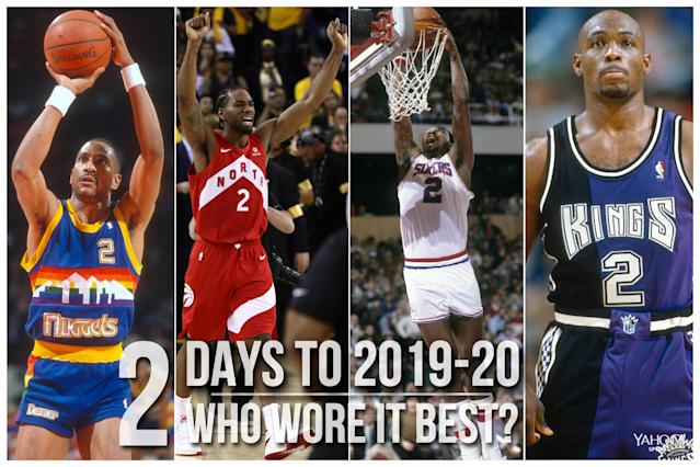 Which NBA player wore No. 2 best?