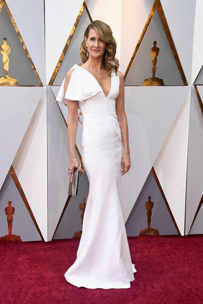 <p>The <em>Big Little Lies</em> star looked graceful on the red carpet in a Calvin Klein by Appointment dress. (Photo: Getty Images) </p>