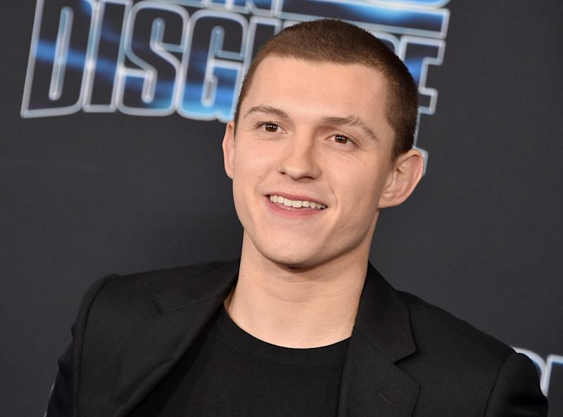 """LOS ANGELES, CA - DECEMBER 04: Tom Holland arrives at the premiere of 20th Century Fox's """"Spies In Disguise"""" at El Capitan Theatre on December 4, 2019 in Los Angeles, California. (Photo by Gregg DeGuire/FilmMagic)"""