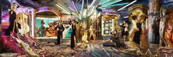 <p>Famous photographer David LaChapelle pulled off a very original and edgy Christmas card for 2013 starring Kris, Bruce (now known at Caitlyn Jenner), Kendall, Kylie, Kourtney with Mason, Khloe and Kim.</p>