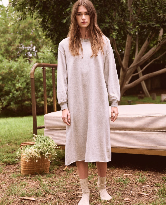 """<br><br><strong>The Great</strong> The Sweatshirt Dress, $, available at <a href=""""https://go.skimresources.com/?id=30283X879131&url=https%3A%2F%2Fthisisthegreat.com%2Fproducts%2Fthe-sweatshirt-dress-light-heather-grey"""" rel=""""nofollow noopener"""" target=""""_blank"""" data-ylk=""""slk:The Great"""" class=""""link rapid-noclick-resp"""">The Great</a>"""