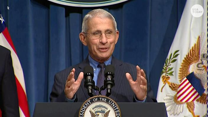 """""""The more we learn about this disease, the more we realize that many young people may not necessarily get sick enough to go to the hospital, but they can get very sick, put them out of action for weeks at a time,"""" Anthony Fauci says."""