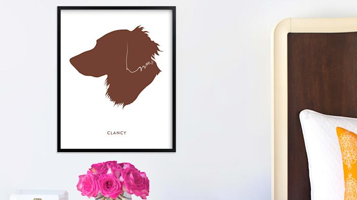 This custom portrait is the perfect gift for proud pet parents.