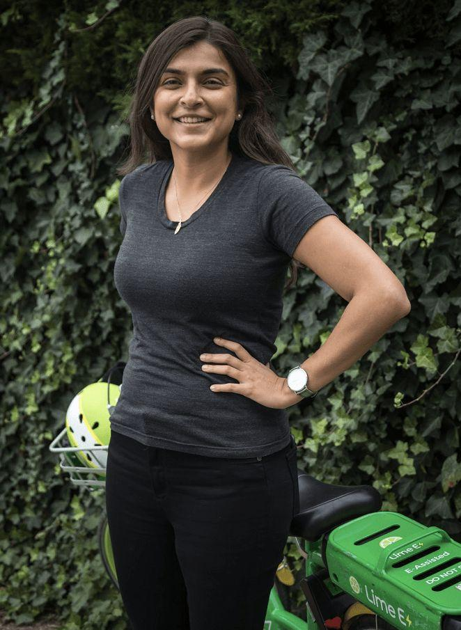 Jaanaki Momaya, general manager in the UK of Lime. Photo: Lime