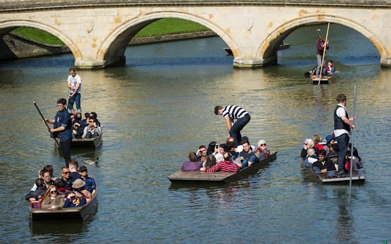 People out punting on the River Cam in Cambridge - Credit:  SWNS.com