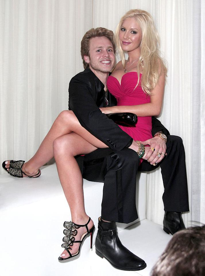 "At the other end of the celebrity spectrum, reality attention-seekers Spencer Pratt and Heidi Montag were out in Vegas last weekend. It was Heidi's first public appearance since she underwent 10 plastic surgery procedures in an attempt to become a plastic Barbie doll. We think she looked better before. Kevin Perkins/<a href=""http://www.pacificcoastnews.com/"" target=""new"">PacificCoastNews.com</a> - February 13, 2010"