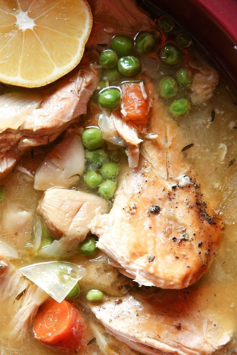 """<p>Chicken tastes even better when you don't actually have to cook it.</p><p>Get the <a href=""""https://www.delish.com/uk/cooking/recipes/a29571333/slow-cooker-lemon-garlic-chicken-recipe/"""" rel=""""nofollow noopener"""" target=""""_blank"""" data-ylk=""""slk:Slow Cooker Lemon-Garlic Chicken"""" class=""""link rapid-noclick-resp"""">Slow Cooker Lemon-Garlic Chicken</a> recipe.</p>"""