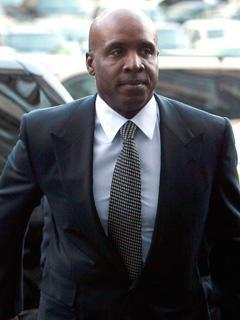 Barry Bonds arrives at a federal courthouse in San Francisco for sentencing stemming from his obstruction of justice conviction