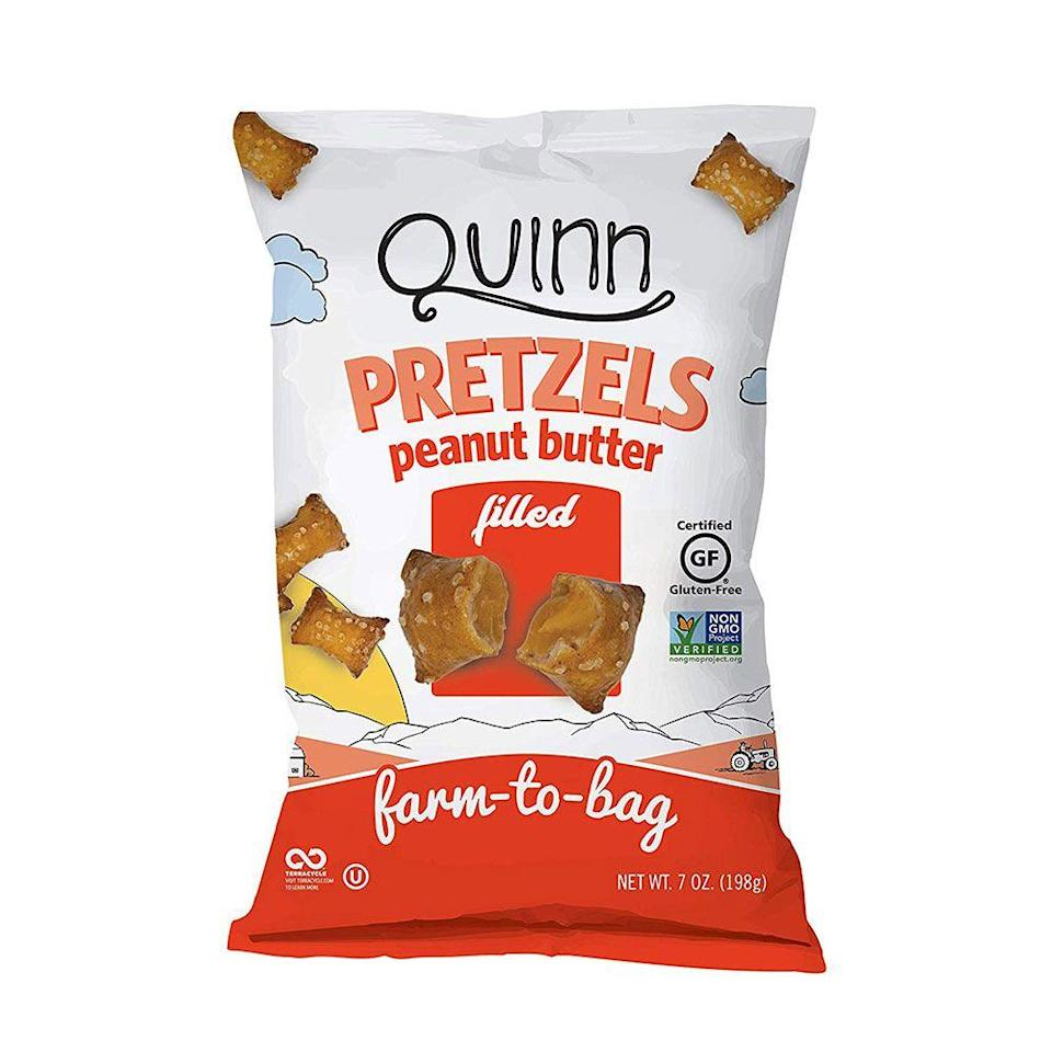 """<p><strong>Quinn Snacks</strong></p><p>amazon.com</p><p><strong>$45.26</strong></p><p><a href=""""https://www.amazon.com/dp/B07ST6HP58?tag=syn-yahoo-20&ascsubtag=%5Bartid%7C1782.g.28638254%5Bsrc%7Cyahoo-us"""" rel=""""nofollow noopener"""" target=""""_blank"""" data-ylk=""""slk:BUY NOW"""" class=""""link rapid-noclick-resp"""">BUY NOW</a></p><p>People who love a salty/sweet combo need to stock up on this offering from Quinn. If texture is your thing, the hard shell exterior and the creamy interior is guaranteed to have you reaching for another handful.</p>"""