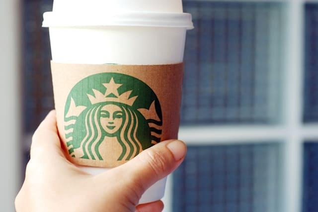 BANGKOK, THAILAND - August 12, 2014: A cup of Starbucks coffee. Starbucks is the world's largest coffee house with over 20,000 s