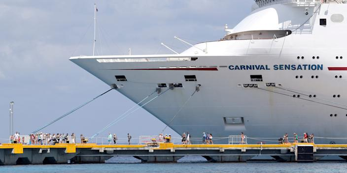 Passengers of the Carnival Sensation, operated by Carnival Cruise Line.