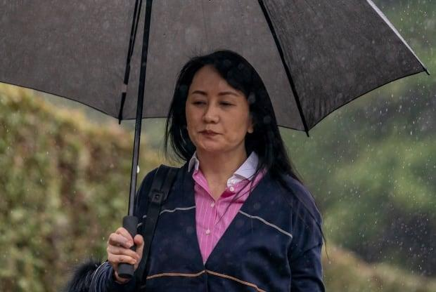 Huawei executive Meng Wanzhou makes her way from her home to B.C. Supreme Court in Vancouver.
