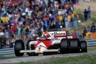 <em>Niki Lauda scored his 25th and final F1 victory in the 1985 Dutch Grand Prix in Zandvoort, the last time the series visited this track. (Photo by Paul-Henri Cahier/Getty Images)</em>