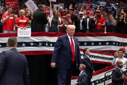 U.S. President Trump rallies with supporters in Dallas, Texas