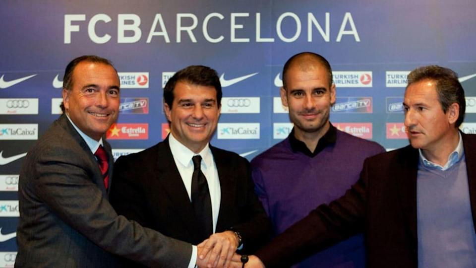 (Form L to R) Barcelona's vicepresident | AFP/Getty Images