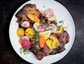 "A little honey in the marinade helps these cutlets caramelize, guaranteeing they'll be nicely browned despite the super-short cooking time. <a href=""https://www.bonappetit.com/recipe/honey-turmeric-pork-with-beet-and-carrot-salad?mbid=synd_yahoo_rss"" rel=""nofollow noopener"" target=""_blank"" data-ylk=""slk:See recipe."" class=""link rapid-noclick-resp"">See recipe.</a>"