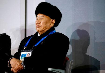 FILE PHOTO: Pyeongchang 2018 Winter Olympics - Closing ceremony - Pyeongchang Olympic Stadium - Pyeongchang, South Korea - February 25, 2018 - Kim Yong Chol, vice chairman of North Korea's ruling Workers' Party Central Committee, watches the closing ceremony. Patrick Semansky/Pool/via REUTERS/File Photo