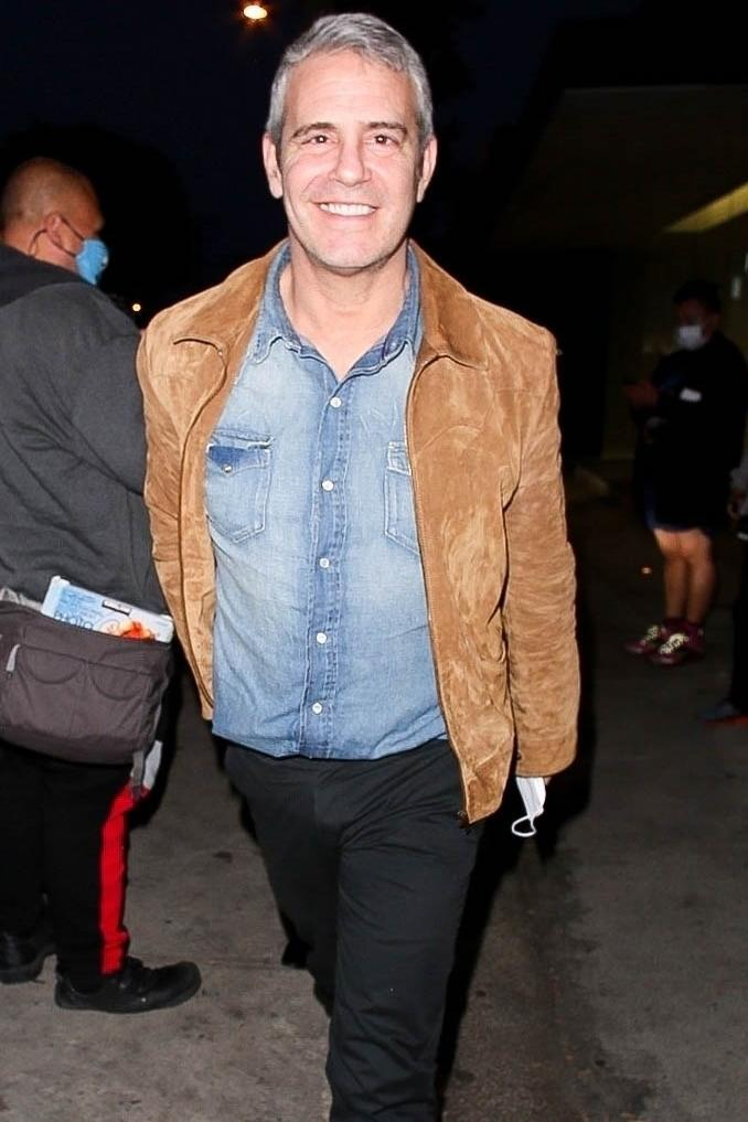 <p>Andy Cohen was all smiles after grabbing a late-night dinner at Craig's in West Hollywood, California.</p>