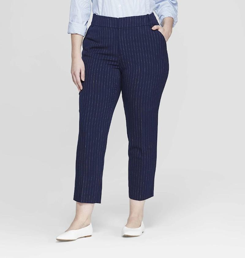Ava & Viv Women's Plus Size Striped Comfort Waistband Ankle Pants (Photo: Target)