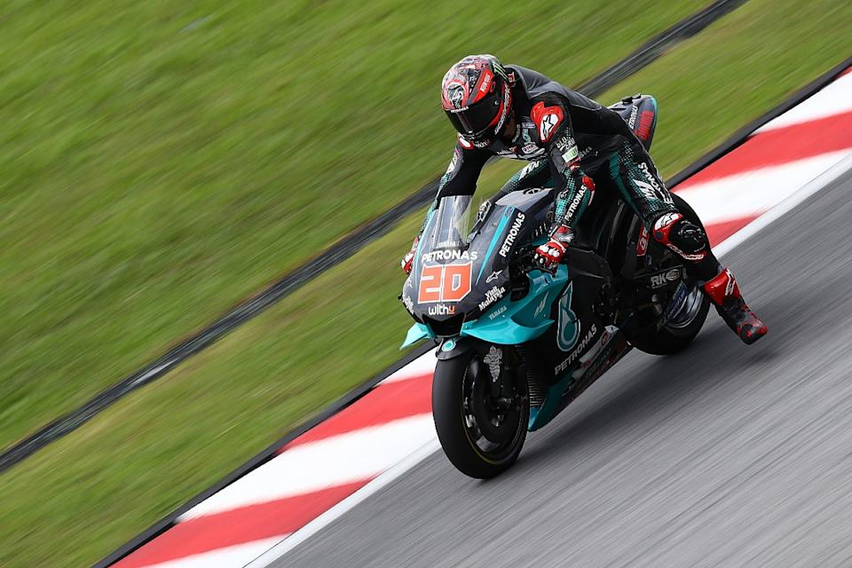 Quartararo tops first 2020 test day, Vinales crashes
