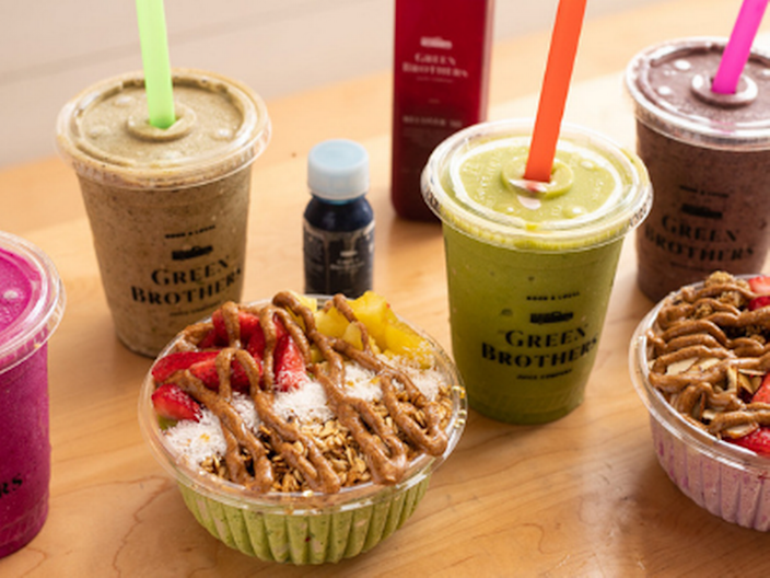 Green Brothers Juice Co. offers smoothies, wellness shots, juices and more.