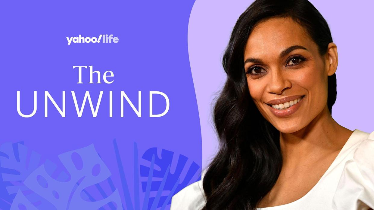 Rosario Dawson's perspective on life is all about loving care, which she pours into her work. (Credit: Getty. Designed by Quinn Lemmers)
