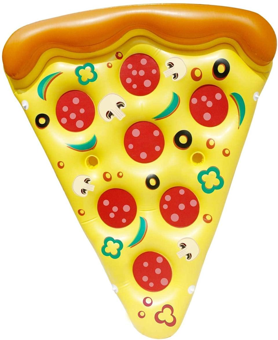 <p>The <span>Joyin Giant Inflatable Pizza Slice Pool Float</span> ($22, originally $40) is such a fun find that has cup holders!</p>