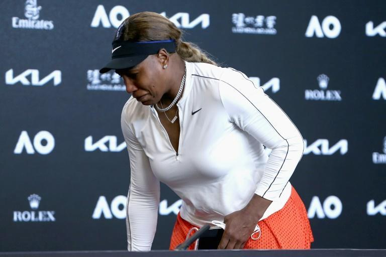 Serena Williams cuts short her post-match press conference in tears and walks out after her semi-final defeat to Naomi Osaka
