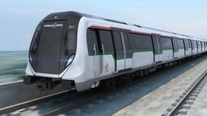 BOMBARDIER MOVIA metro train currently in delivery for the North-South and East-West Lines.