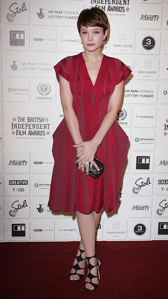 """<a href=""""http://movies.yahoo.com/movie/contributor/1808686699"""">Carey Mulligan</a> at the 2009 British Independent Film Awards in London - 12/06/2009"""