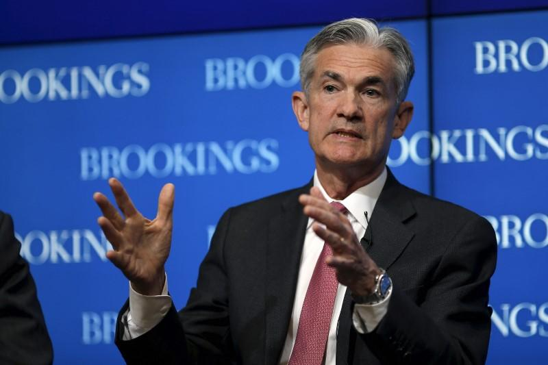 Federal Reserve Governor Jerome Powell delivers remarks during a conference at the Brookings Institution in Washington