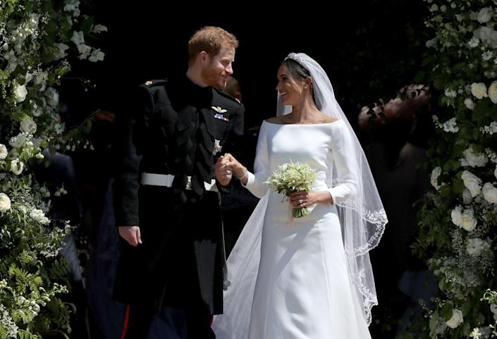 <p>This time, Prince Harry married actress Meghan Markle on May 19, 2018. Like his brother, Harry married a non-royal, and an American, to boot. We'll never get up that early on a Saturday morning again.</p>