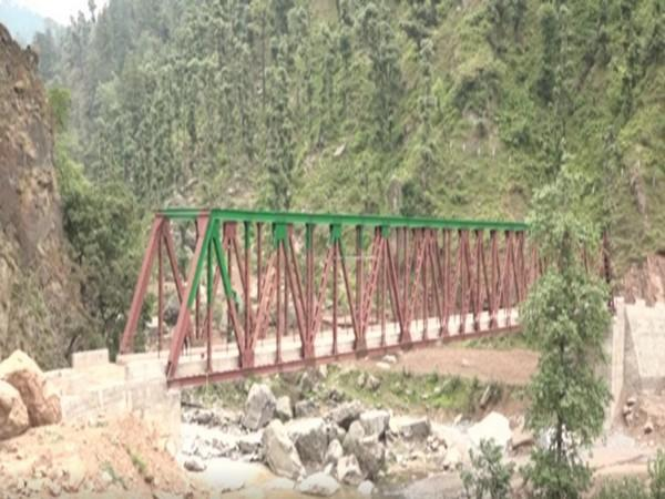 The newly constructed bridge in Cemani village on Parla Chakkal to Balota road. (Photo/ANI)